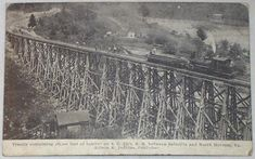 Saltville Trestle, VA -This view is from a 1900-1920 era postcard.