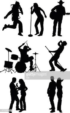 Silueta de músicos Saxophone, Paper Cutting, Silhouette, Creative, Movie Posters, Movies, Painting, Character, Orchestra