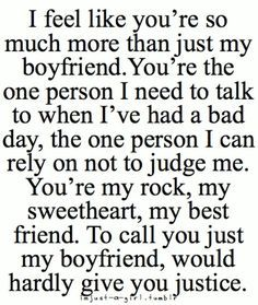 Quotes about the best boyfriend ever