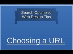 Tips on Choosing the Right URL. Read it here - http://www.business2community.com/seo/30-free-search-optimized-web-design-tips-tip-1-choosing-url-2-0886122#!QXqPr