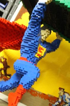 Wow! The details on Nathan Sawaya's Lego Superman are intense, even for SDCC.
