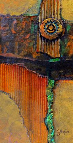 "Daily Paintworks - ""Abstract Mixed Media Art Medallion 2 by Colorado Mixed Media Abstract Artist Carol Nelson"" - Original Fine Art for Sale - © Carol Nelson Mixed Media Painting, Mixed Media Canvas, Mixed Media Art, Mix Media, Art Grunge, Encaustic Art, Small Paintings, Fine Art, Medium Art"