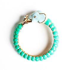 Turquoise elephant bracelet- CHARMING CHARLIE