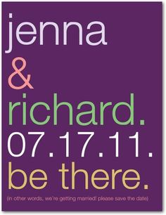 Save the Date postcard - $0.94