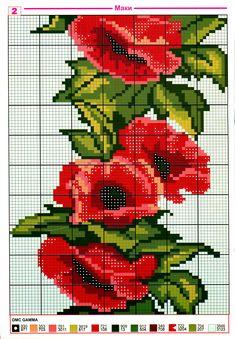 Красные маки ( вышивание крестиком,схемы) / Схемы для вышивания крестиком / Статьи / Искусница-рукодельница