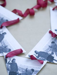 how to make that bunting w/o sewing! (remember the book themed one I liked & pinned?)