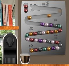 CapsuleKong – Donkey Kong Inspired Wall Display For Nespresso® Pods, $170