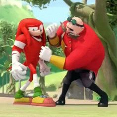 Knuckles and Eggman Sonic Boom, Doctor Eggman, Sonic Funny, Sonic And Shadow, Sonic Fan Art, Echidna, Animated Cartoons, Chucky, New Friends