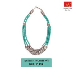 Which upcoming festive occasion will you don this gorgeous neck piece on? #Wfashion #holidays #festive #turquoise #jewellery #necklace #fun #style #grace