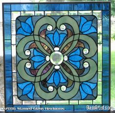 Victorian Stained Glass Patterns | Krista Victorian Stained Glass Window Panel Floral EBSQ Artist ...
