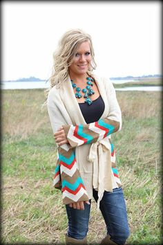 Baby its cold out side Chevron sweater-Pre-Order: Filly Flair