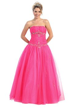 FT60014 - A Line/Princess Strapless Sweetheart Neckline Floor Length Wedding Ball Gown Evening Long Prom Dress With Ruffle Beading