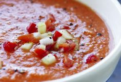 Kald tomatsuppe - gazpacho