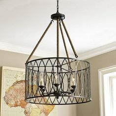 Denley 6 Light Pendant Chandelier from Ballard Designs Foyer Chandelier, Chandeliers, Chandelier Pendant Lights, Light Pendant, Home Lighting, Lighting Design, Lighting Ideas, Kitchen Lighting, Ballard Designs Lighting