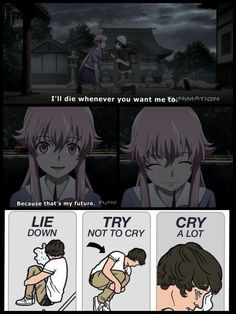 Future diary.  Time to go on a feels trip!! Aaauughh God!