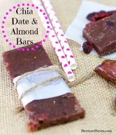 Homemade Chia Date & Almond Bar Recipe - So easy to make and taste just like Larabars!
