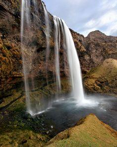 Seljalandsfoss Waterfall in Storidalur, Rangarvallasysla_ Iceland