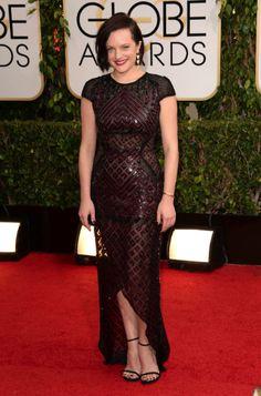 Elisabeth Moss in J. Mendel   Golden Globes 2014