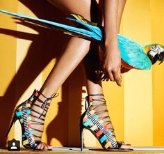 #Allabouttheshoes #heels #shoes #sexy #colourful #parrot