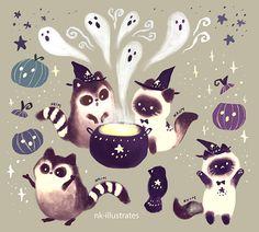 "nk-illustrates: ""Happy Halloween! Be safe! """