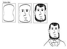 Guided Drawing Abe Lincoln