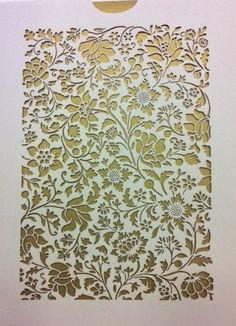 Nicole & Raffi's Laser Cut Wedding Invitations from Crane & Co. at ...