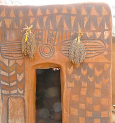 Wow. Hand painted dwellings from the village of Tiébélé located in Burkina Faso, West Africa. Photographs taken by: Rita Willaert