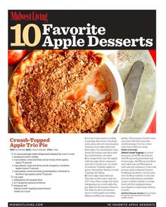 Download our free printable collection of favorite apple dessert recipes.