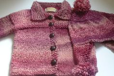 Knit Toddler Cardigan and Hat in Burgundy    by fashionablekids, $69.00