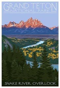 Snake River Overlook, Grand Teton National Park, Wyoming #nationalParkUsaadventure