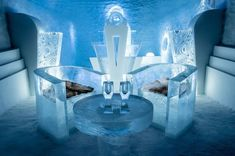 Coolest hotel in the world? Inside Sweden's first YEAR-ROUND ice hotel which features a 'floating' bed Lappland, Ice Hotel Sweden, Dancer In The Dark, Frozen Art, Floating Bed, Ice Bars, Ice Sculptures, Arctic Circle, Snow And Ice
