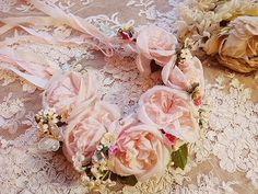 bridal hair wreath, beautiful