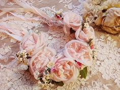 bridal hair wreath, beautiful