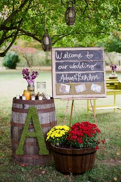 This welcoming wedding entrance embodies all of the earth's rustic elements