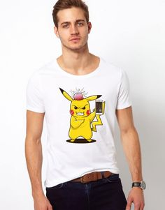 9841cbaa5d35e Injured Angry Pikachu with Smartphone White T-shirt