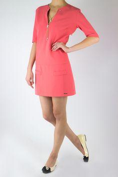 Babylon--深V珠鍊釦亮色甜美洋裝