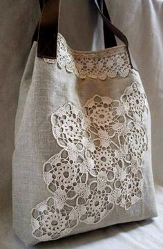 ♥bag with crochet motive