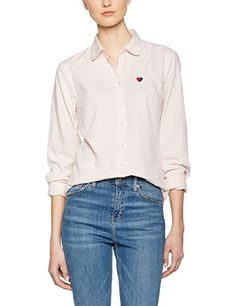 8f81ce9f131 Tommy Hilfiger Women's Aurora Oxford Casual Shirt, Pink (Rose Smoke), 38 (