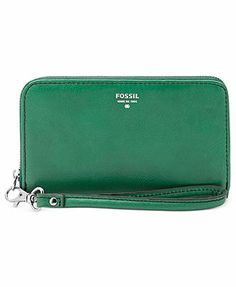 Fossil Wristlet, Sydney Leather Zip Phone Wallet
