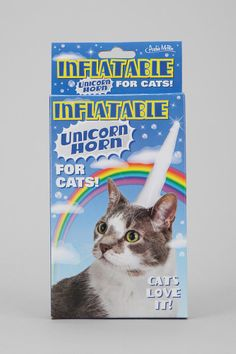 A unicorn horn for your cat. #urbanoutfitters I WANT IT.