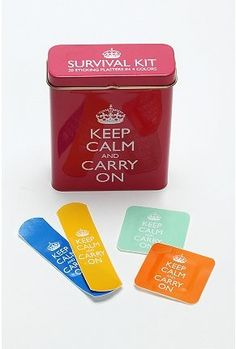 Keep Calm Bandages. Now I Can Chill Out After I Get a Paper Cut.