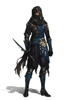 Rogue. Assassin. Thief. Desert inspiration. Blue Tabbard. Face mask with hood. Darlois (Firebrand Trilogy) http://kyradune.weebly.com/firebrand-trilogy.html