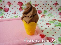フェルト☆初のチョコ味 の画像|feltoy house フェルトままごと