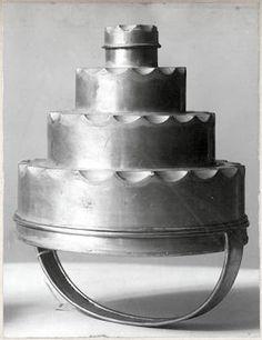 'Ice Mold',  dessert mold - Josef Hoffmann design, 1903, Vienna.