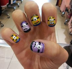 Minion nails (Despicable Me 2)