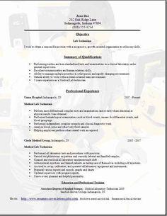 Lab Technician Resume3