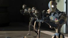If there are Arc Troopers, Separatists should get BX-Series Commando Droids then. Droides Star Wars, Star Wars Droids, Star Wars Rebels, Star Wars Pictures, Star Wars Images, Star Wars Timeline, Fantasy Model, Empire, Galactic Republic