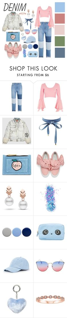 """Denim"" by tawneerose on Polyvore featuring Steve J & Yoni P, River Island, Gucci, Charlotte Russe, Skinnydip, Joshua's, Escalier, In Your Dreams, Burberry and Anya Hindmarch"