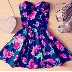 Cute flowers dress