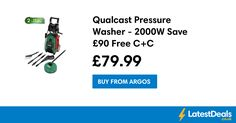 Qualcast Pressure Washer - 2000W Save £90 Free C+C, £79.99 at Argos